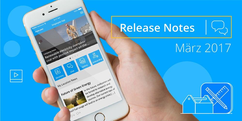 Release Note März 2017