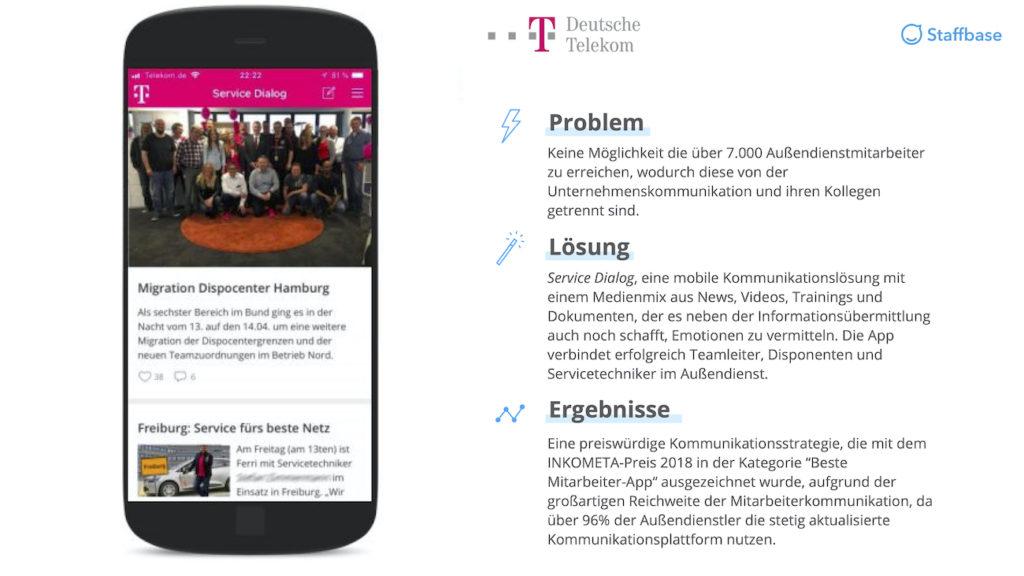 Telekom Zusammenfassung Mitarbeiterapp Staffbase