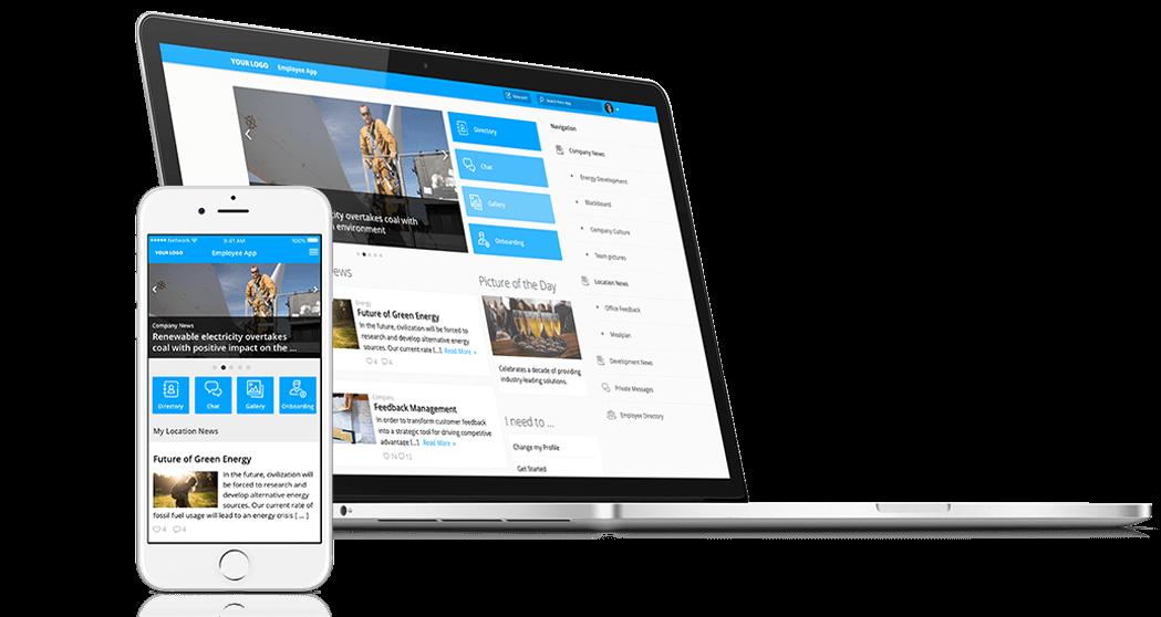 Startseite Staffbase Mitarbeiter-App Intranet Mitarbeitermagazin