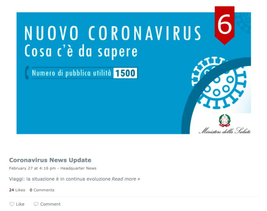 Max Mara's dedicated coronavirus news feed.